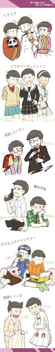 some crossovers with other series! osomatsu-san