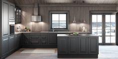 Edel Eik Mørk Grå Kitchen Dining, Kitchen Cabinets, Dining Room, Home Decor, Google, Decoration Home, Room Decor, Cabinets, Home Interior Design