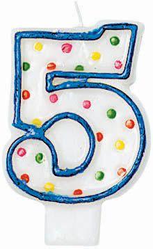 5 Birthday Candle