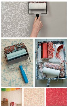 homemade paint roller designs