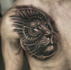Tattoo done by: Mumia916 #lion #liontattoo #tattoolion bambamsi.com