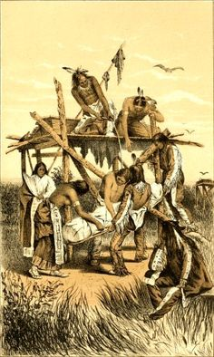 American Indian's History: Native American Burials: Trees and Scaffolds Illustrated