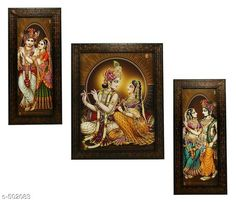 Paintings & Posters Radha Krishna Paintings (Set Of 3) Material: Wood & Plastic Size: (L x W) - Frame 1 - 5.2 in x 12.5 in Frame 2 - 9.5 in x 12.5 in Frame 3 - 5.2 in x 12.5 in Description: It Has 3 Pieces Of Wall Paintings Work: Printed Note: Glass Not Included Country of Origin: India Sizes Available: Free Size   Catalog Rating: ★4.1 (490)  Catalog Name: Spiritual Wall Paintings Vol 20 CatalogID_55286 C127-SC1611 Code: 023-502083-756