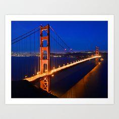 Golden Gate Bridge Art Print by Chris Flores - $33.28