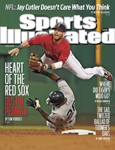 On the Cover: Dustin Pedroia, Baseball, Boston Red Sox  Photographed by: Winslow Townson / SI