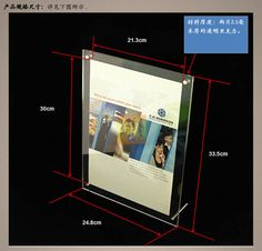 Rechthoekige acryl fotolijst acryl reclame frame product a4 fotolijst in 4x6 inch Customize transparent acrylic photo frame photo frame glass display card photo frame crystal table card van kader op AliExpress.com | Alibaba Groep