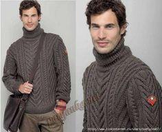 вязаные пуловеры для мужчин с описанием - Поиск в Google