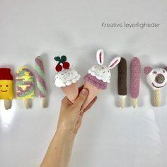 Noras isbutik – Kreative Løyerligheder Crochet Fruit, Crochet Food, Crochet For Kids, Crochet Flowers, Knit Crochet, Diy For Kids, Gifts For Kids, Kids Hands, Play Food