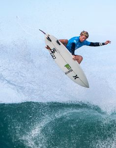 John John Florence getting some air in #QuikPro France