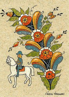 Kurbits Tole Painting, Figure Painting, Norwegian Rosemaling, German Folk, Swedish Decor, Scandinavian Folk Art, Illustration Art, Sketches, Art Prints