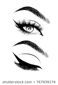 Hand-drawn woman's sexy luxurious eye with perfectly shaped eyebrows and full lashes. Idea for business visit card, typography vector.Perfect salon look. Source by maricrysmezapes Pencil Art Drawings, Drawing Sketches, Sexy Drawings, Eyebrows Sketch, Dream Catcher Vector, Eyes Looking Down, Eye Sketch, Perfect Eyes, Eye Art