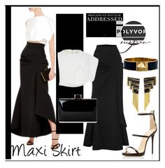 """Maxi Skirt"" by evachasioti ❤ liked on Polyvore featuring Maticevski, Giuseppe Zanotti, Miss Me, Kate Spade, Erté, skirt and maxi"