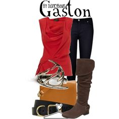 """Gaston"" by lalakay on Polyvore #disney"