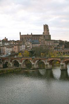 The old bridge at Albi, France