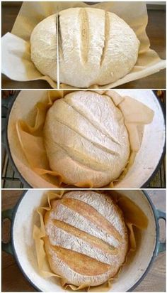 Baking super easy artisan bread in an enameled cast iron dutch oven provides that perfect commercial-oven crust. Grab this no-knead artisan bread recipe and make this asap! Dutch Oven Bread, Cast Iron Dutch Oven, Dutch Oven Cooking, Dutch Ovens, Cast Iron Bread, Pain Artisanal, Enamel Dutch Oven, Dutch Oven Recipes Enameled, Artisan Bread Recipes