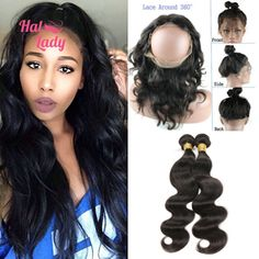 3/4 Bundles With Closure Alipearl Deep Wave Bundles With Frontal Closure Free/three Brazilian Human Hair 3 Bundles With 360 Lace Frontal Closure Remy Elegant In Smell Hair Extensions & Wigs