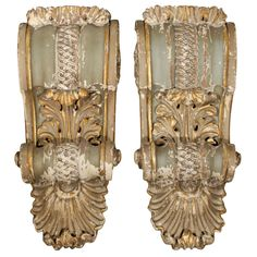 Pair Of  Carved French Wood Corbels
