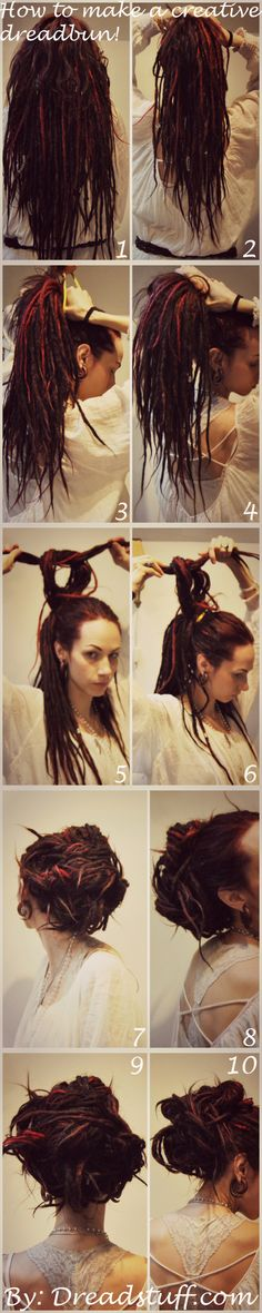 how to make a dread bun