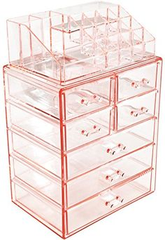 Sorbus Acrylic Cosmetic Makeup and Jewelry Storage Case D...