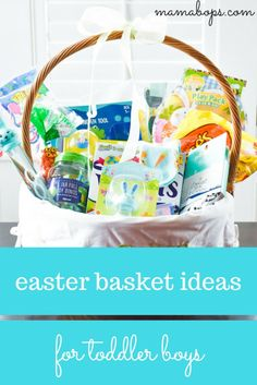 5 perfect ideas for your toddlers easter basket basket ideas easter basket ideas for 2 year old boys negle Choice Image