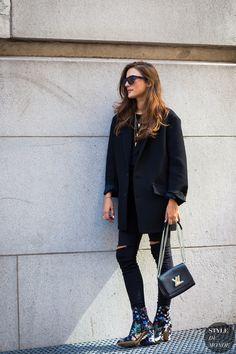 #New on #STYLEDUMONDE http://www.styledumonde.com with @eleonoracarisi #EleonoraCarisi at #newyork #fashionweek #nyfw #valentino #louisvuittonbag #outfit #ootd #streetstyle #streetfashion #fashion #mode #style