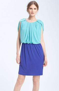 Donna Ricco Colorblock dress- don't necessarily like this for the style but like the color combination