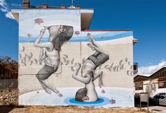 Walking on a Dream: Murals of People Staring into Portals of Color by Seth Globepainter | Colossal