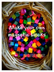 Making your own magnetic blocks