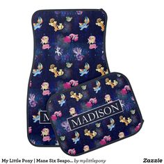 My Little Pony | Mane Six Seapony Pattern Car Floor Mat. Cute My Little Pony merchandise to personalize. #mylittlepony #mlp #giftideas #kids #personalize #shopping