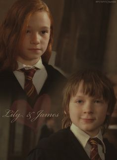 young Lily Evans and James Potter