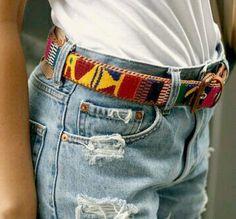 Guatemalan style boho belt