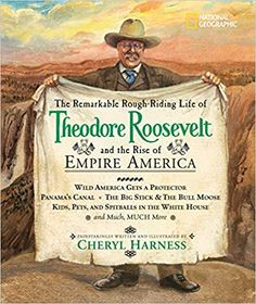 """Great living history book filled with adventure ! Theodore Roosevelt definitely lived a """"remarkable rough-riding"""" life ...but his life didn't start out that way. This book is more than a biography. Great supplemental reading for America's Turn of the Century Unit Study."""