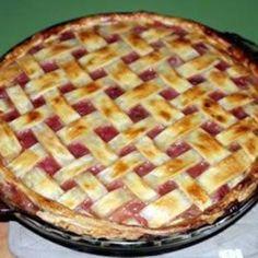 Fast Apple Rhubarb Pie