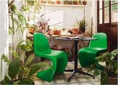 Panton chair summer green / Vitra