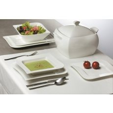 Komplet obiadowy Fala 42-elementowy AMBITION Teller, Butter Dish, Sugar Bowl, Bowl Set, Dishes, Kitchen, Dom, Gastronomia, Porcelain Ceramics