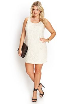 Embroidered Shift Dress | FOREVER21 PLUS - 2000068523
