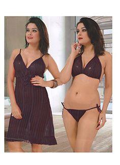 Indiatrendzs Women's Nighty Violet Babydoll Night Wear 3P... http://www.amazon.in/dp/B01HTL42AQ/ref=cm_sw_r_pi_dp_x_DtH2yb0AP03AS   #nightdress #lingerieset #women #fashion #fancy #sexwear #sexy #hot #honeymoon #bridal #firstnight #babydoll #sleepwear #nightwear #boho #bohemian