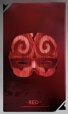 RED mask for FAWKES novel, artwork by @mishmadoodls