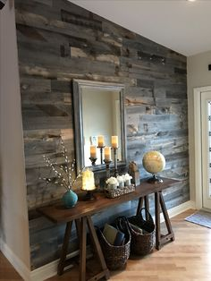 Affordable Diy Accent Wall Interior Ideas For Inspiration 20865 Home Renovation, Home Remodeling, Architecture Renovation, Ship Lap Walls, Entryway Decor, Foyer, Country Entryway, Home Projects, Living Room Decor