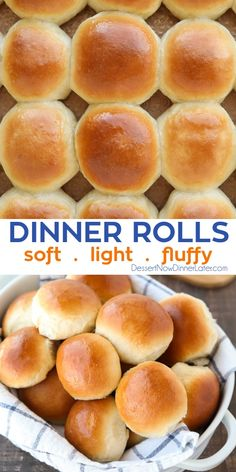 This classic homemade dinner rolls recipe is soft, fluffy, light, and buttery. The perfect bread for any meal or holiday feast. Fluffy Buns Recipe, Soft Rolls Recipe, Soft Bread Recipe, Recipe For Buns, Sweet Dinner Rolls, Fluffy Dinner Rolls, Dinner Rolls Easy, No Yeast Dinner Rolls, Easy Yeast Rolls