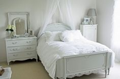 white white white bedroom