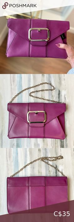 Banana Republic Buckle Envelope Clutch Gorgeous clutch to add a pop of colour to your outfit NWT Banana Republic Bags Clutches & Wristlets Navy Blue Clutch, White Clutch, Pink Clutch, Pink Leather, Leather Clutch, Banana Republic Purses, Beige Purses, Oversized Clutch, Chain Crossbody Bag