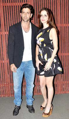 Hrithik Roshan and Suzzanne at Kanana's birthday bash.