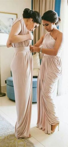 one shoulder bridesmaid dress, 2017 long bridesmaid dress, mermaid long bridesmaid dress, wedding party dress