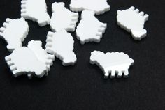 Tiny White Sheep Cabochons  10 pieces by PrairieDogSupplies, $5.50