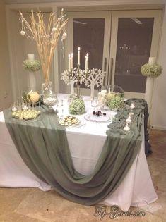 Bridal Brunch Tischinszenierungen - New ideas Wedding Table, Diy Wedding, Rustic Wedding, Wedding Flowers, Wedding Ideas, Deco Buffet, Deco Table, Bridal Shower Decorations, Wedding Decorations