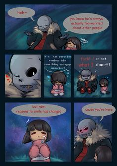 sans and frisk - underfell comic 3/4