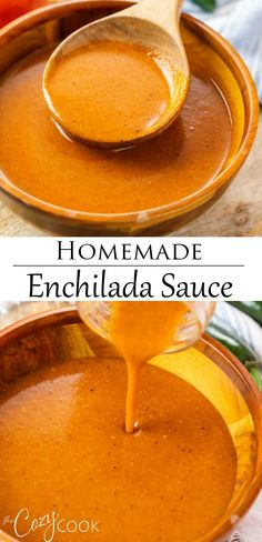 Recipes With Enchilada Sauce, Homemade Enchilada Sauce, Homemade Enchiladas, Homemade Sauce, Sauce Recipes, Beef Recipes, Mexican Food Recipes, Cooking Recipes, Spanish Dishes