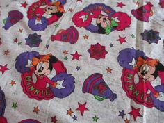 VTG 80s  Disney Minnie Mouse fabric Cheerleader Minnie mouse 60 x 36  #Disney Minnie Mouse Fabric, Vintage Fabrics, Cheerleading, Kids Rugs, Disney, Ebay, Kid Friendly Rugs, Nursery Rugs, Competitive Cheerleading