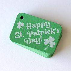36 Green St Patricks Day Gift Tags Happy St Patricks Day Gift Wrap Tags RR178 -- Click image to review more details.Note:It is affiliate link to Amazon.